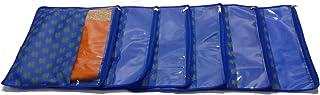 PrettyKrafts Saree Cover Set of 6 Designer Prints with Transparent Window_Blue