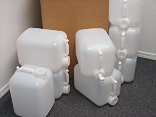 5 Gallon Carboy, 8 Pack (40 Gallons), Emergency Water Storage Kit - New! - Clean! - Boxed! - Free Spigot!