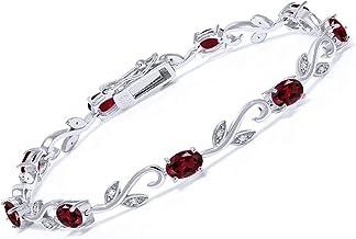 Bracelet Garnet 925 Silver 16.82 ct