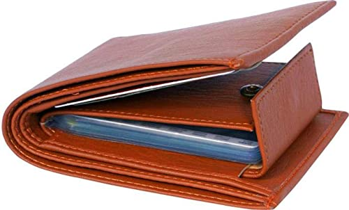 Ayush Leather World Leatherite Wallet for Men (Tan)