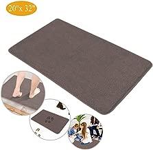 Indoor Doormat Super Absorbent Mud Mat, Magic Step Clean Door Mat Non Slip Dirts Trapper Mat, Outdoor XL Doormat for Bathroom, Front, Inside and Entry Machine Wash Gray Rug (32