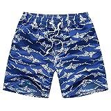 Kqpoinw Trajes de Baño para Niños, Trajes de Baño para Niños Pantalones Cortos de Tabla de Playa Transpirables de Secado Rápido Traje de Baño para Bebés Niños (M: (5~6 años), Azul Marino)