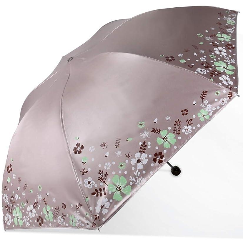 ぼろ仕立て屋ラッドヤードキップリング傘家庭用折りたたみ傘UV保護傘金属製傘折りたたみ傘3色あり HYBKY (Color : Gray)