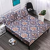 XGguo Protector de colchón de Rizo algodón y Transpirable Impresión de sábanas Impermeables Barrera de orina-11_150cmX200cm