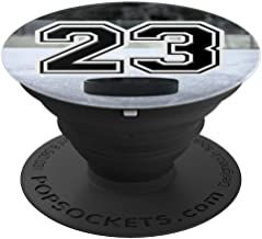 Ice Hockey Custom Jersey Number 23 Puck on Rink - PopSockets Grip and Stand for Phones and Tablets