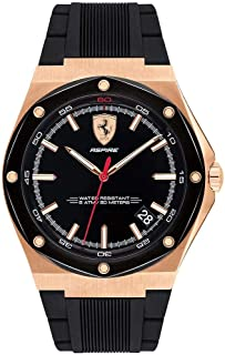 Scuderia Ferrari MEN'S BLACK DIAL BLACK SILICONE WATCH - 830553 0830553