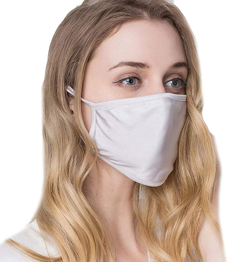 1PC Women Washable 2Plys Silk Reusable Air Filtration Face Protection