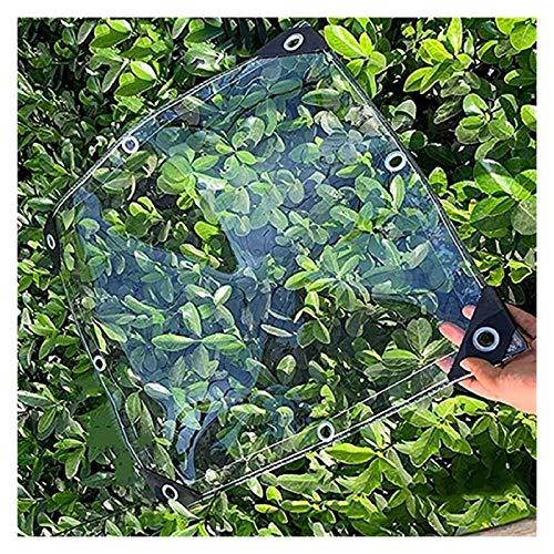 ZHANGQINGXIU Lonas Impermeables Exterior,Cubierta De Lona De Plástico Transparente Cortinas De Lluvia Para Balcones, Dobladillo Reforzado Con Cuerda De Nailon Resistente Al Desgarro Con Ojal Para Porc