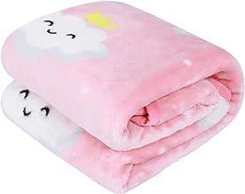 TILLYOU Micro Fleece Plush Baby Blanket Large Lightweight Crib Blanket for Toddler Bed,..