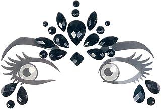 ZOYLINK Gemme Del Viso Face Jewels Adesivo In Cristallo Con Strass Glitterato Per Natale