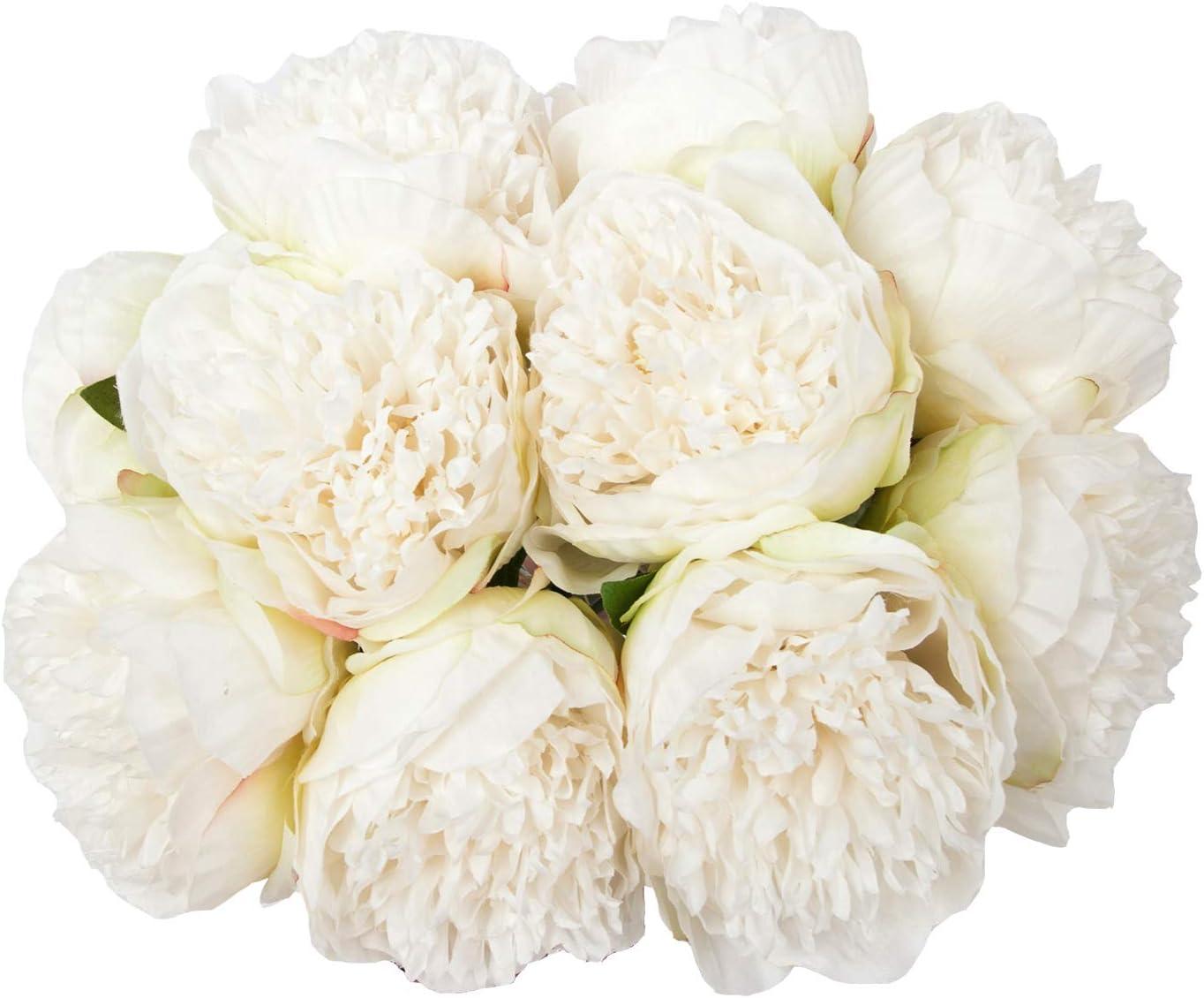 U'Artlines 2Bouquet 10Heads Artificial Peony Leaf Max 83% Ultra-Cheap Deals OFF Silk Flower Ho