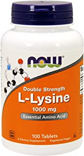NOW Supplements, L-Lysine 1000 mg, Double Strength, Amino Acid, 100 Count