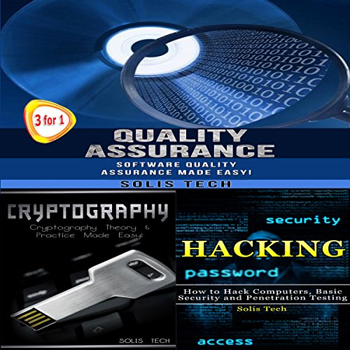 Quality Assurance + Cryptography + Hacking audiobook cover art