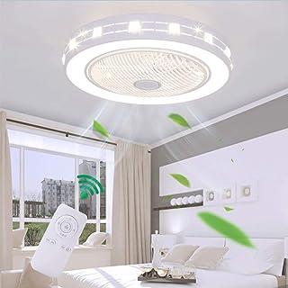 Ventilador De Techo Con Iluminación LED Moderno Luz De Techo Velocidad Del Viento Ajustable Regulable Con Control Remoto 48W Sincronización Silencioso Dormitorio Sala De Estar Luz De Techo Luz Del