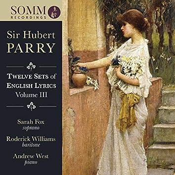 Parry: 12 Sets of English Lyrics, Vol. 3
