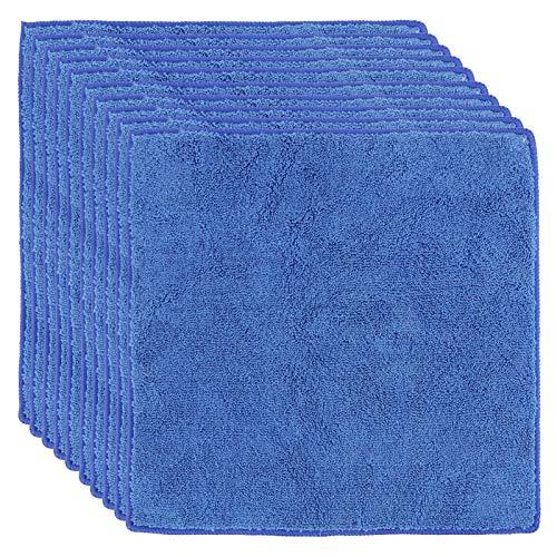 Oubit Toalla 10Pcs 30x30cm Toalla de Mano Cuadrada Azul Toalla Absorbente para Deportes de baño en casa