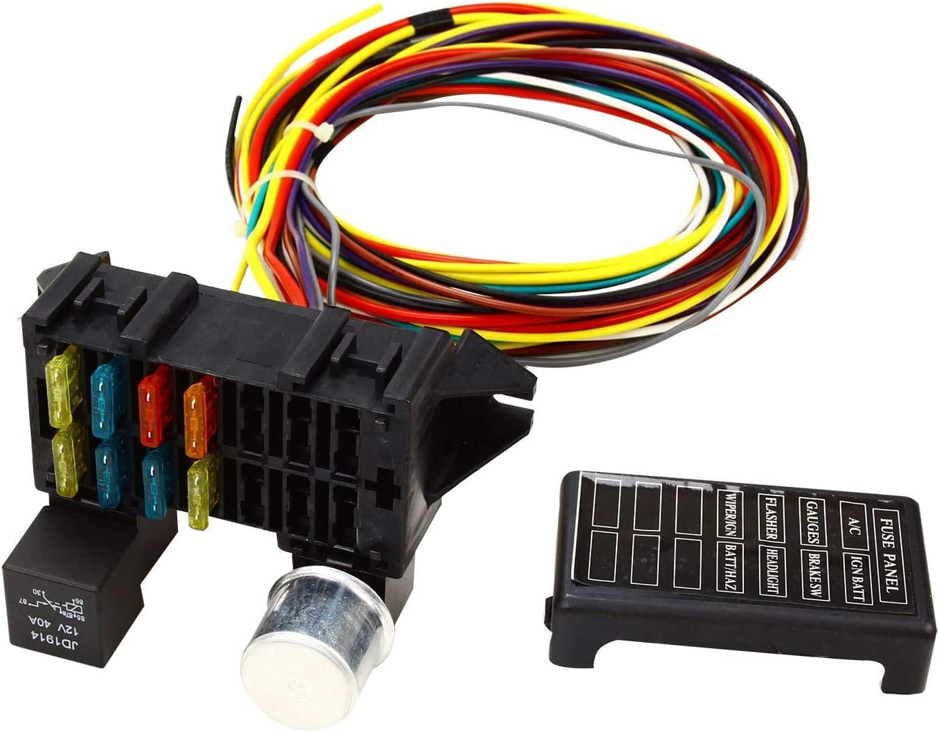 8 Circuit Fuse 12V Max 46% OFF Universal Wire Hot Muscle for Free shipping on posting reviews Harness Car Rod