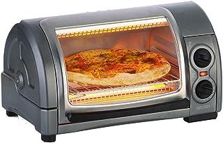 STBD-Horno Curvo doméstico, 12L, Bandeja de Chips y 1300W de Potencia, calefacción por Infrarrojos, Mini Utensilios para Hornear