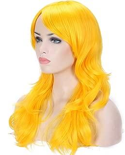 yellow comic book wig