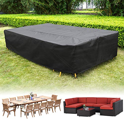 "137 Inch Patio Furniture Cover for Outdoor Snow Protection Waterproof Patio Table Chair Cover Rectangular UV Resistant Durable Sectional Sofa Protective Cover (137"" L x 86"" W x 27.5"" H) New Mexico"