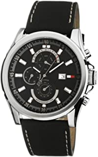 Tommy Hilfiger Multifunction Leather Strap Black Dial Men's Watch #1790730