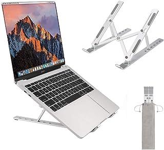 Portable Laptop Stand, Foldable Adjustable Aluminum Riser Laptop Holder for Desk, Ventilated Notebook Holder for MacBook A...