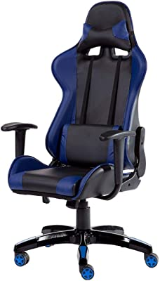 Amazon.com: Computer Gaming Leather Chair, E-Sports Larger Size ...