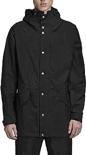 Men's Waterproof Rain Jacket Lightweight Windbreaker Active Outdoor Hooded Long Raincoat