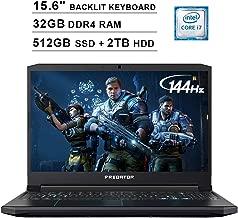 Acer 2019 Predator Helios 300 15.6 Inch FHD Gaming Laptop (9th Gen Intel 6-Core i7-9750H up to 4.5GHz, 32GB RAM, 512GB PCIe SSD + 2TB HDD, Backlit Keyboard, GTX 1660 Ti, WiFi, Bluetooth, Win 10)