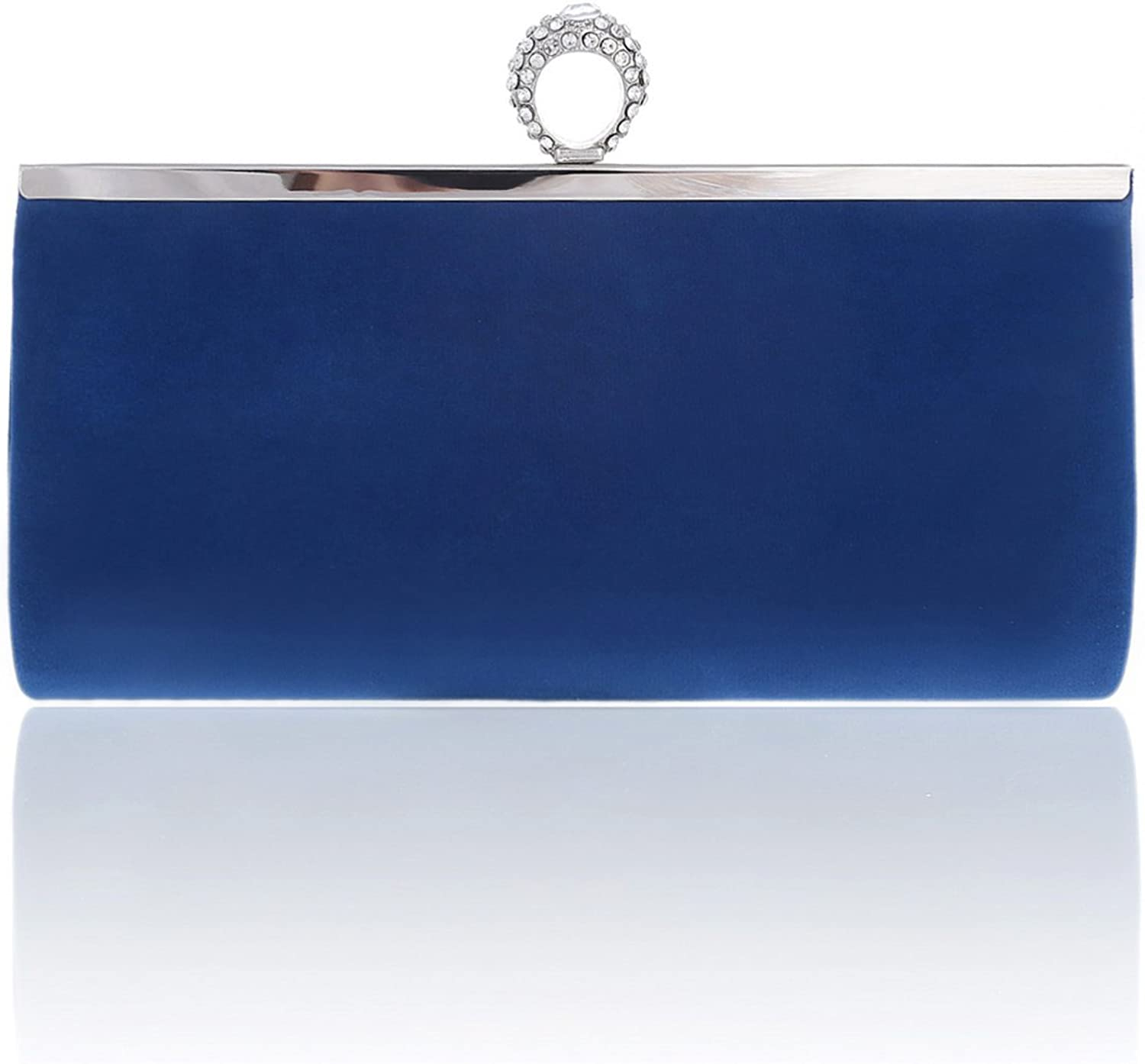 Damara Womens ORing Soft Cocktail Clutch Bag