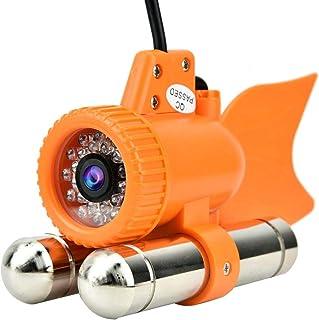 Lazmin Buscador de Profundidad de Peces submarinos, DC12V 12LED 1000TVL HD Cámara de Pesca Impermeable, visión Nocturna de...