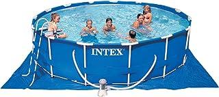 Intex Metal - Piscina sobre Suelo con Bomba