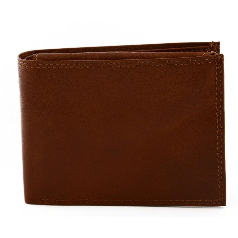 組み合わせるシルク鎮静剤Made In Italy Man Wallet In Genuine Leather Color Brown - Accessories