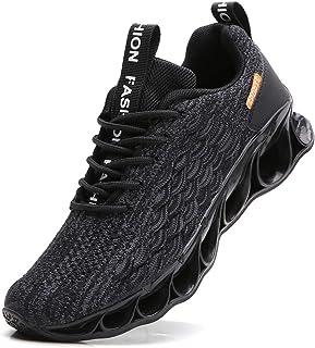 YZHYXS - Scarpe da ginnastica da uomo, alla moda, casual, da corsa, da tennis, Nero (A050 Nero), 7.5 UK