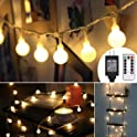 Aloveco 44ft 100 LED Globe String Lights