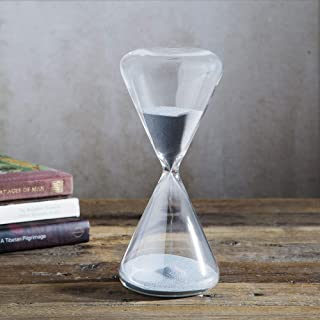 Home Essentials Triangle Hourglass Silver Sand Timer 30 Minutes 8-inch Height