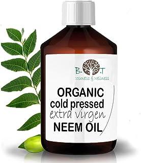 B.O.T cosmetic & wellness Aceite de Neem Virgen Prensado en Frío Primera Presión 100% Puro Bio Non Refinado (100 ml) Azadirachtin 3123.32 ppm.