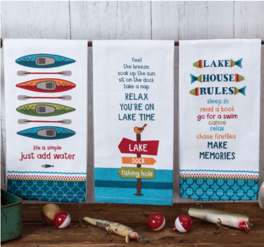 Kay Dee OFFicial shop Designs Lake Life Assorted of Towels San Jose Mall Sack Flour Set