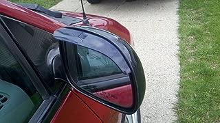TRUE LINE Automotive Black Smoke Mirror Visor Rain Guards Smoked