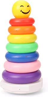 Ratna's Smiley Stacking Ring Big (7 Rings)for Kids Attractive Colours