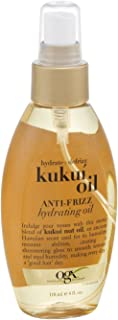 Ogx Kukui Oil Hydrating Oil 4 Ounce Anti-Frizz (118ml) (3 Pack)