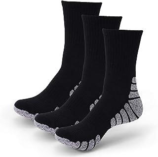 Wonewin, 3 Pares Calcetines Running Para Hombre Mujer - Deporte Calcetines Cortos de Algodón Con Amortiguación Respirable Running Ciclismo