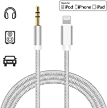(Apple MFi Certified) iPhone Aux Cable for Car,Lightning to 3.5mm Adapter Nylon Braided Audio Cable Compatible with iPhone 8/8P/X/XR/XS MAX Adapter to Car Stereo/Headphone/Speaker Support iOS 12