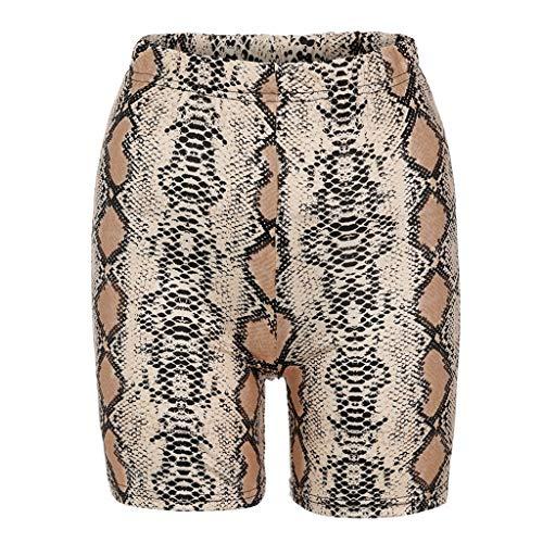 Damen Shorts Kurze Hose Radlerhose Unterhose Hotpants Boxershorts Sommer Snake Print Skinny Sports Fitness Reiten Casual Shorts Zum Tragen im Alltag oder zu Hause