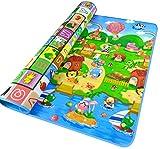 Menu Life Baby Fruit Buchstabe Play Matte Climb Decke schleichenden Puzzle Pad Krabbeldecke 2x 1,8m/1,8x 1,5m, baumwolle, Zoo + Sea/ABC, 200 * 180 * 0.5cm