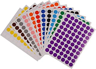 Weforu Dot Stickers, 19mm Sticky Coloured Dots, 12 Colors Round Stickers Dots Circle Color Coding Labels(2520pcs, 36Sheet,...