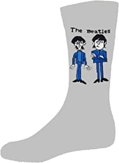 The Beatles Cartoon Group Standing Official Mens Grey Socks UK Size 7-11 One Size