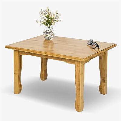 LD Bambú Impermeable Mesas auxiliares, Rectángulo Mesa de sofá Dormitorio Mesa de Noche Sala de