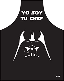 Dr. Troll Delantal Fan Art de Darth Vader y la Frase Yo Soy tu Chef, Color Blanco y Negro