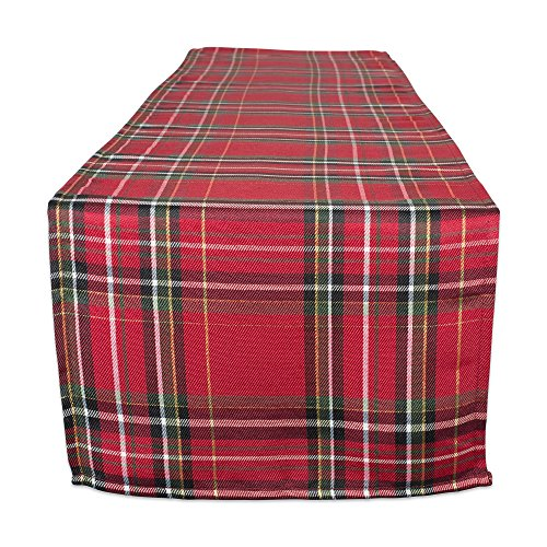 DII Holiday Metallic Plaid Kitchen Tabletop Collection, 14x108